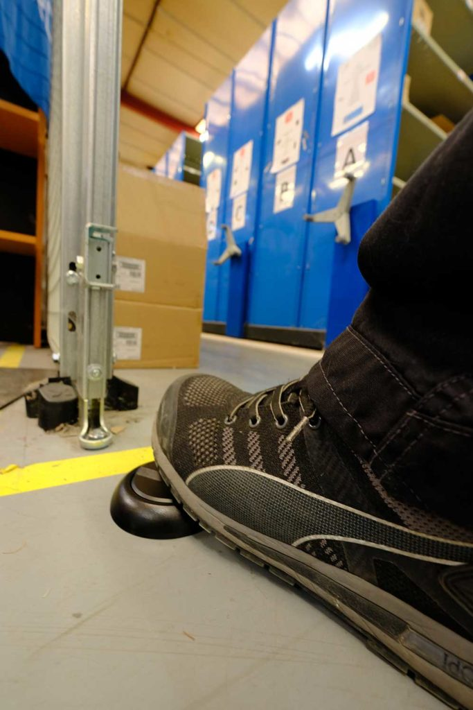 NodOn contactless foot switch at Altyor headquarter
