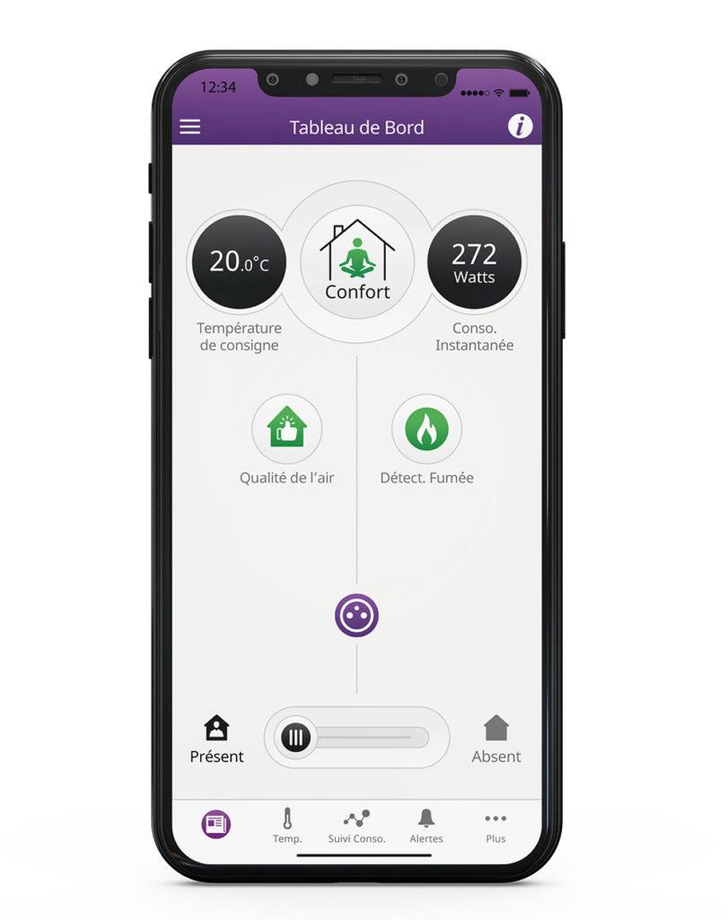 social housing - screenshot of app to control temperature